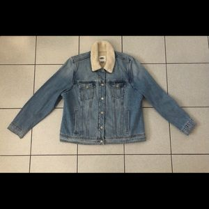 Old Navy sherpa-lined jean jacket